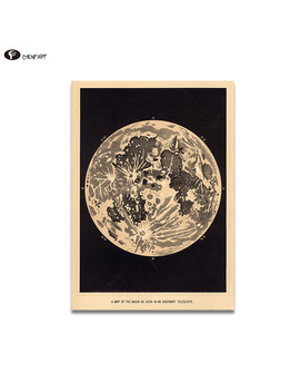 Chenfart  Canvas Prints Vintage Moon Art Print Poster Of The Moon Home Decor Decorative Pictures No Framed by Chenfart