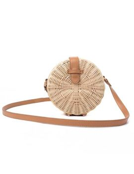 Women Straw Bag Bohemian Bali Rattan Beach Handbag Small Circle Lady Vintag C5 M7 by Unbranded