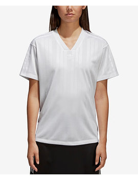 Jacquard V Neck T Shirt by Adidas Originals