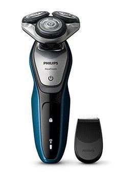 Philips Aqua Touch S5420/06   Afeitadora Eléctrica, Sin Cable, Uso En Húmedo Y Seco, 45 Min De Uso/1 H Carga, Con Tapa Protectora Del Cabezal, Color Negro by Philips