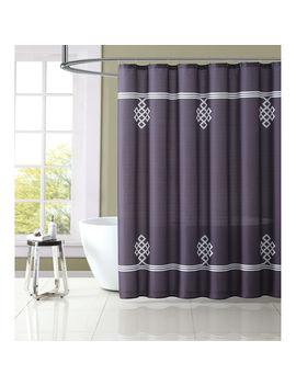Dark Gray Jasper Shower Curtain Set by At Home