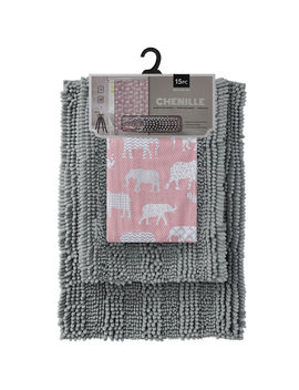 Zelephant 15 Pc Chnl Rug  Blush by At Home