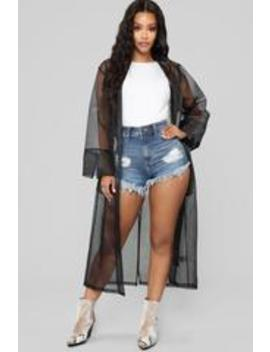 Runaway Heart Kimono   Black by Fashion Nova