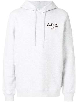A.P.C.Front Logo Hoodiehome Men A.P.C.Clothing Hoodies by A.P.C.