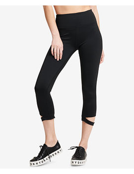 Sport High Waist Cutout Cropped Leggings by Dkny