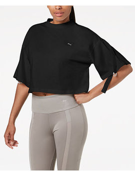 En Pointe Cotton Convertible Sleeve Cropped T Shirt by Puma