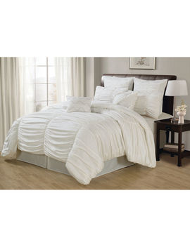 White Deluxe Danielle Comforter King by At Home