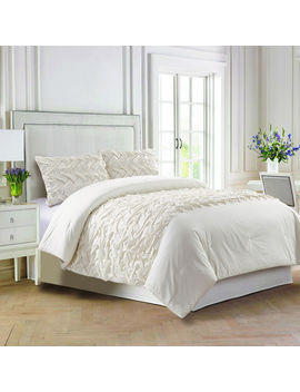 Dylan Ivory Basketweave 2 Piece Comforter King by At Home