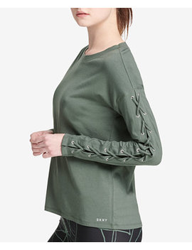 Sport Long Lace Up Sleeves T Shirt by Dkny
