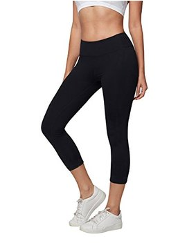 Ajisai Womens Workout Leggings High Waist Tummy Control Yoga Running Pants Non See Through Fabric by Ajisai