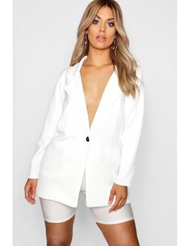 Plus Low Plunge Blazer by Boohoo