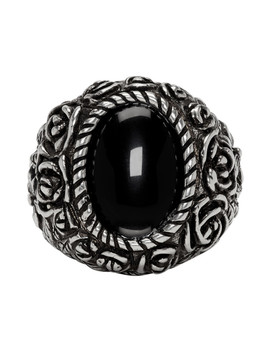 Silver Flower Ring by Givenchy