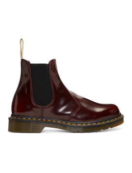 Red 2976 Vegan Chelsea Boots by Dr. Martens