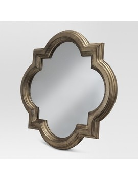 Clover Decorative Wall Mirror Gold   Threshold™ by Shop All Threshold™