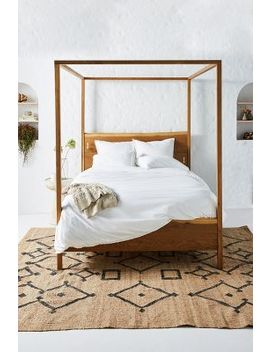 Prana Live Edge Four Poster Bed by Anthropologie
