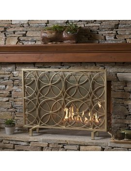 Home Loft Concepts Servais Single Panel Iron Fireplace Screen by Home Loft Concepts