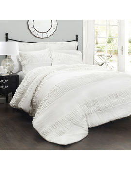 White Mineral Skies Harmony 3 Piece Comforter   King by At Home