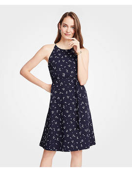 Petite Halter Flare Dress by Ann Taylor