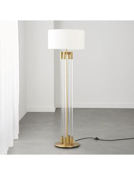 Column Acrylic Floor Lamp With Brass by Crate&Barrel