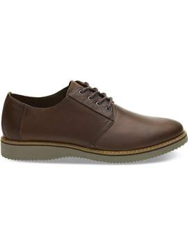 Peanut Brown Leather Men's Preston Dress Shoes by Toms