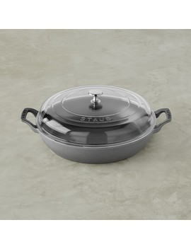 Staub Cast Iron Braiser With Glass Lid by Williams   Sonoma