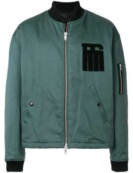 Raf Simonslogo Patch Padded Bomber Jackethome Men Raf Simons Clothing Bomber Jackets by Raf Simons