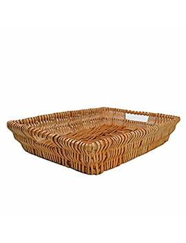 Rurality Rectangular Wicker Storage Basket For Home, Shops Or Markets by Rurality