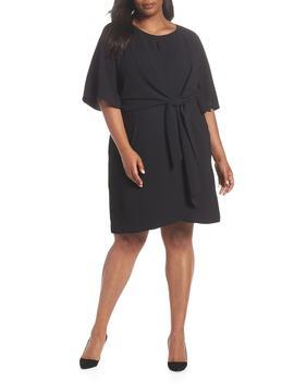 Short Sleeve Crepe Shift Dress by Tahari