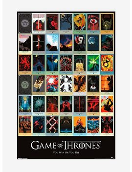 Game Of Thrones Infographic Poster by Hot Topic