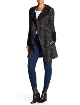 tweed-shawl-collar-cardigan by blanc-noir