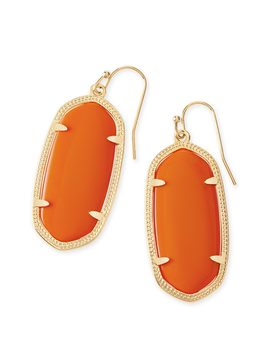 Elle Gold Drop Earrings In Orange by Kendra Scott