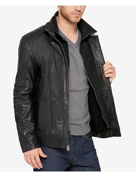 Men's Leather Bomber Jacket by Cole Haan