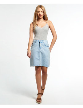 A Line Denim Skirt by Superdry