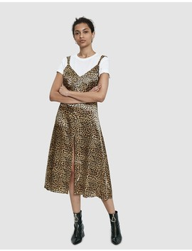Suzette Leopard Print Slip Dress by Stelen