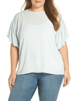 Cabana Bubble Sleeve Blouse by Vince Camuto