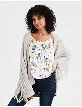 Ae Fringe Cardigan by American Eagle Outfitters