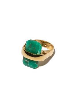 Sandbar Ring   Emerald by Lele Sadoughi
