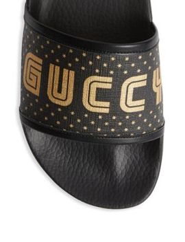 Guccy Print Slide by Gucci