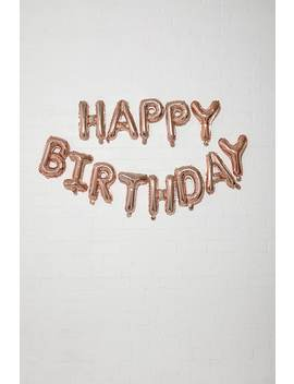 Ginger Ray Happy Birthday Balloon Bunting by Forever 21
