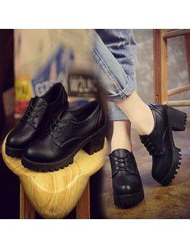 Chunky Heel Oxfords by Simply Walk