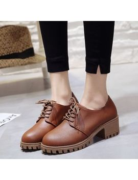 Chunky Heel Oxfords by Nikao
