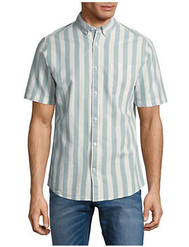 Striped Cotton Sport Shirt by Only And Sons