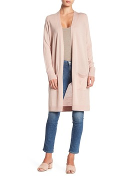 Wool Blend Open Front Cardigan by Halogen