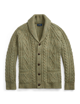 Cable Wool Cashmere Cardigan by Ralph Lauren