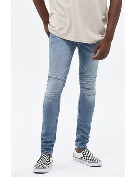 Stacked Skinny Ergo Moto Medium Jeans by Pac Sun