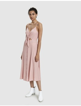 Vicki Tie Waist Midi Dress by Farrow