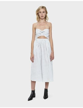 Camilla Stripe Halter Midi Dress by Farrow