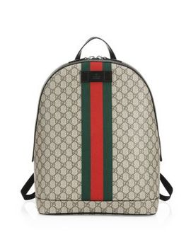 Logo Canvas Backpack by Gucci