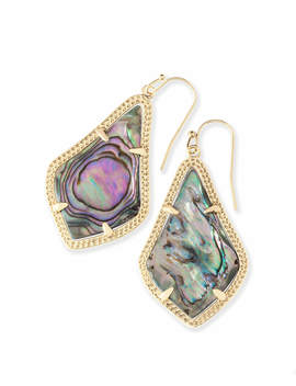 Alex Gold Drop Earrings In Abalone Shell by Kendra Scott