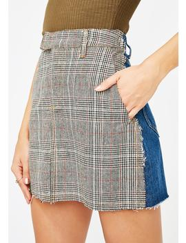 Study Hall Two Tone Skirt by Signature 8